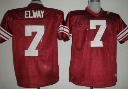 Standford Cardinals #7 Elways Red Jersey