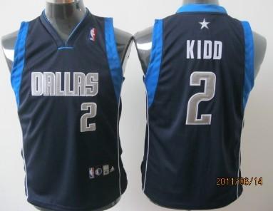 Dallas Mavericks #2 Jason Kidd Navy Blue Kids Jersey