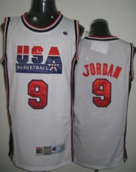 new styles 95eca a0ba5 1992 Olympics Team USA #9 Michael Jordan White Swingman ...