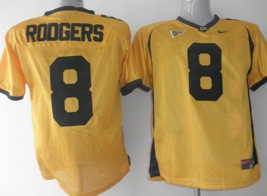 California Golden Bears #8 Rodgers Yellow Jersey