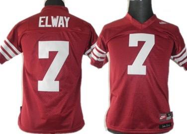 Stanford Cardinals #7 Elways Red Kids Jersey