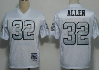 newest 4129e 2331b Oakland Raiders #32 Marcus Allen White With Silver Throwback ...