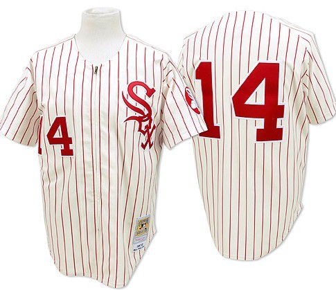 Chicago White Sox  14 Bill Melton White With Red Pinstripe Throwback Jersey 3d1fada7a37