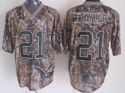 cheap for discount b4d0f 3058b Nike Washington Redskins #21 Sean Taylor Realtree Camo Elite ...