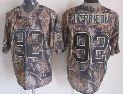 pretty nice f5885 70742 Nike Pittsburgh Steelers #92 James Harrison Realtree Camo ...