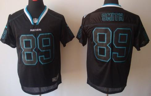 Nike Carolina Panthers #89 Steve Smith Lights Out Black Elite ...