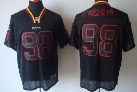 Nike Washington Redskins  98 Brian Orakpo Lights Out Black Elite Jersey 4ceb517f3