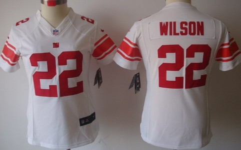 nike new york giants 22 david wilson white limited womens jersey