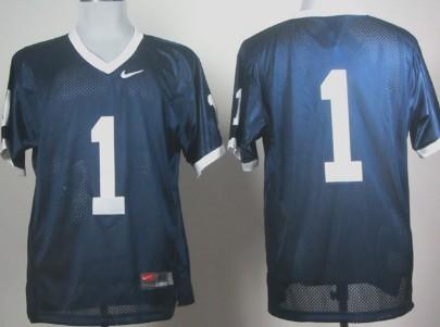 Penn State Natty Lions #1 Navy Blue Jersey