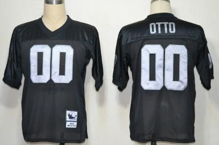 oakland raiders 00 jim otto black throwback jersey