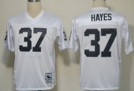 Oakland Raiders #37 Lester Hayes White Throwback Jersey on sale ...