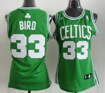 big sale c671a 14ad8 Boston Celtics #33 Larry Bird Green Womens Jersey on sale ...