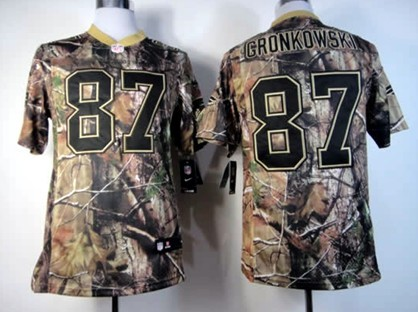 detailed look 7ee4d a96b8 Nike New England Patriots #87 Rob Gronkowski Realtree Camo ...
