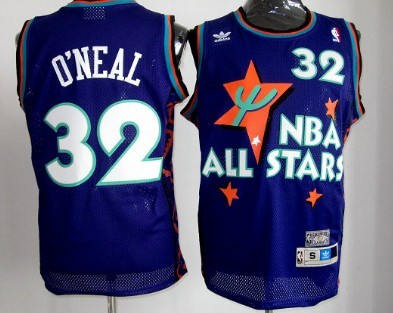 NBA 1995 All-Star #32 Shaquille O'neal Purple Swingman Throwback Jersey