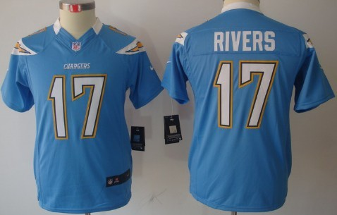 Nike San Diego Chargers  17 Philip Rivers Light Blue Limited Kids Jersey 90361932d