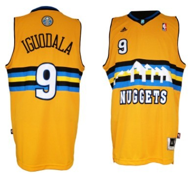 13a33803e top quality denver nuggets 9 andre iguodala revolution 30 swingman yellow  jersey 99279 6ff06