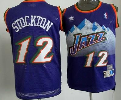 Utah Jazz  12 John Stockton Mountain White Throwback Swingman Jersey ... 033c45510