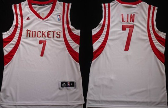 info for b2ded 40bb5 Houston Rockets #7 Jeremy Lin Revolution 30 Swingman White ...