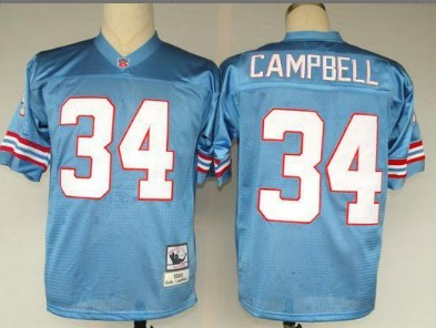 9f0f8f3a2 Houston Oilers #34 Earl Campbell White Throwback Jersey on sale,for ...