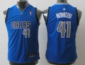 Dallas Mavericks #41 Dirk Nowitzki Light Blue Kids Jersey