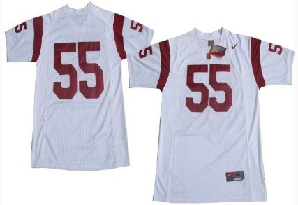 classic fit ed403 b4adc USC Trojans #55 Junior Seau White Jersey on sale,for Cheap ...
