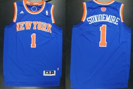 a8205d7a7 ... green promo code for new york knicks 1 amare stoudemire revolution 30  swingman 2013 blue jersey 68418 ...