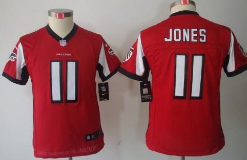 8c49680b Nike Atlanta Falcons #11 Julio Jones Red Limited Kids Jersey on sale ...