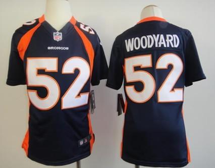 separation shoes e0251 9cda8 Nike Denver Broncos #52 Wesley Woodyard Blue Game Kids ...
