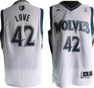10cd1b24d Minnesota Timberwolves  42 Kevin Love Revolution 30 Swingman White Jersey