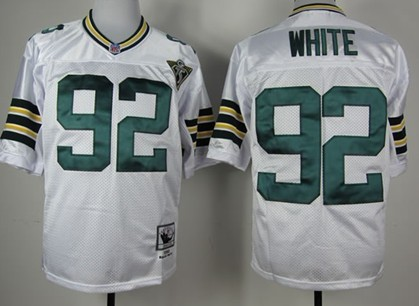 new styles 40d33 d8fd0 Green Bay Packers #92 Reggie White White 75TH Throwback ...