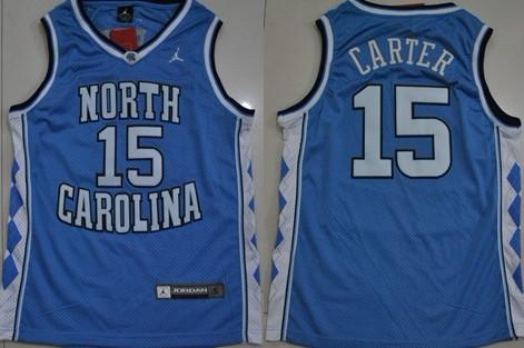 df11cade76a7 North Carolina Tar Heels  15 Vince Carter Light Blue Swingman Jersey ...
