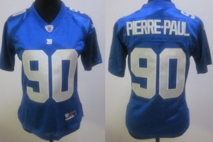 New York Giants #90 Jason Pierre-Paul Blue Womens Jersey