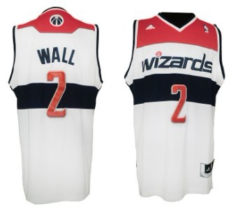 promo code 58ff8 618b6 Washington Wizards #2 John Wall Revolution 30 Swingman White ...