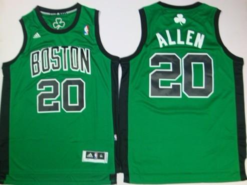 acc9638b06c Boston Celtics #20 Ray Allen Revolution 30 Swingman Green With Black Jersey