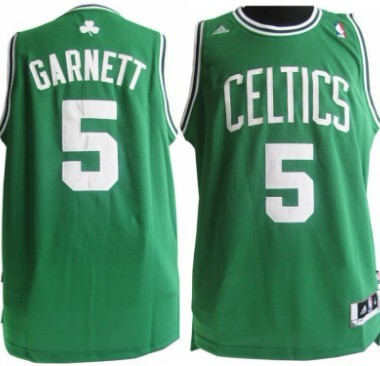 detailing 9796f cfbbd Boston Celtics #5 Kevin Garnett Revolution 30 Swingman Green ...