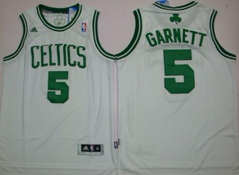 the latest c1ef6 84c9a Boston Celtics #5 Kevin Garnett Revolution 30 Swingman White ...