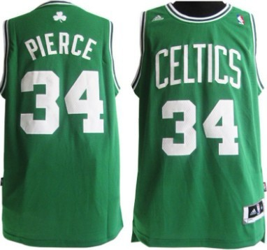 ddf68c1ee Boston Celtics  34 Paul Pierce Revolution 30 Swingman Green Jersey ...