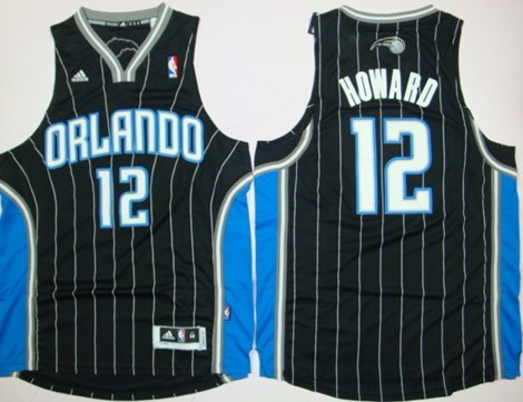 faaa5874db9 Orlando Magic  12 Dwight Howard Revolution 30 Swingman Black Jersey ...