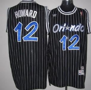 competitive price e173e 325a8 Orlando Magic #12 Dwight Howard Black Swingman Throwback ...