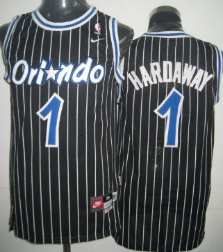 detailed pictures 651b6 e1089 Orlando Magic #1 Penny Hardaway Black Swingman Throwback ...