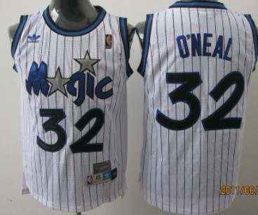 various colors 6e7dd 499c9 Orlando Magic #32 Shaquille O'neal White Swingman Throwback ...