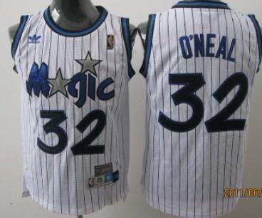 various colors 32984 260e0 Orlando Magic #32 Shaquille O'neal White Swingman Throwback ...
