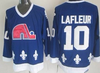 Quebec Nordiques #10 Guy Lafleur Navy Blue Throwback CCM Jersey