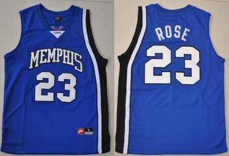 more photos 51cef 77edd Memphis Tigers #23 Derrick Rose Blue Jersey on sale,for ...