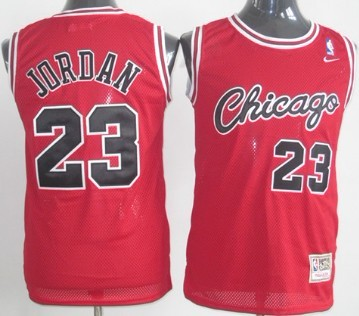 the best attitude c408d eb6c2 Chicago Bulls #23 Michael Jordan 1984-1985 Rookie Red ...