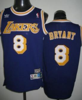free shipping 62d9e 8fab2 Los Angeles Lakers #8 Kobe Bryant Purple Swingman Throwback ...