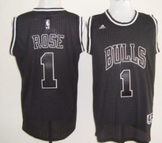 derrick rose black bulls jersey