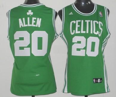 Boston Celtics #20 Ray Allen Green Womens Jersey