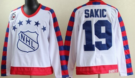 NHL 1992 All-Star #19 Joe Sakic White 75TH Throwback CCM Jersey