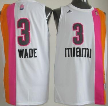 bdc7b6ef8 Miami Floridians  3 Dwyane Wade ABA Hardwood Classic Swingman White No  Holes Jersey